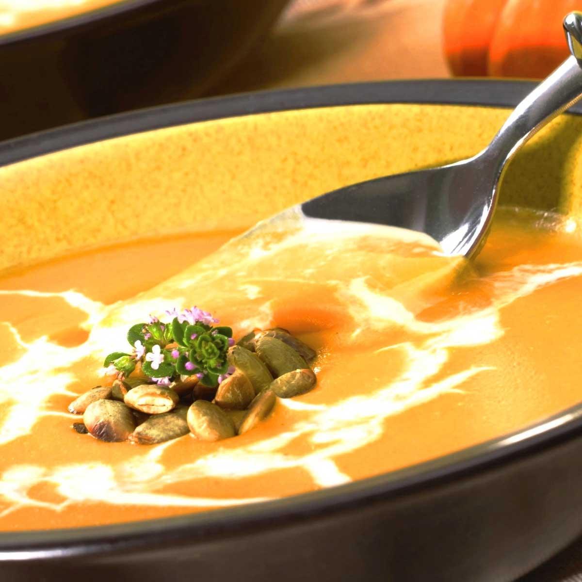 Vegane Kuerbis Creme Suppe