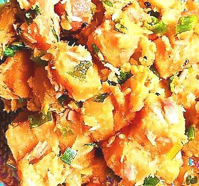 Süßkartoffel-Gurkensalat